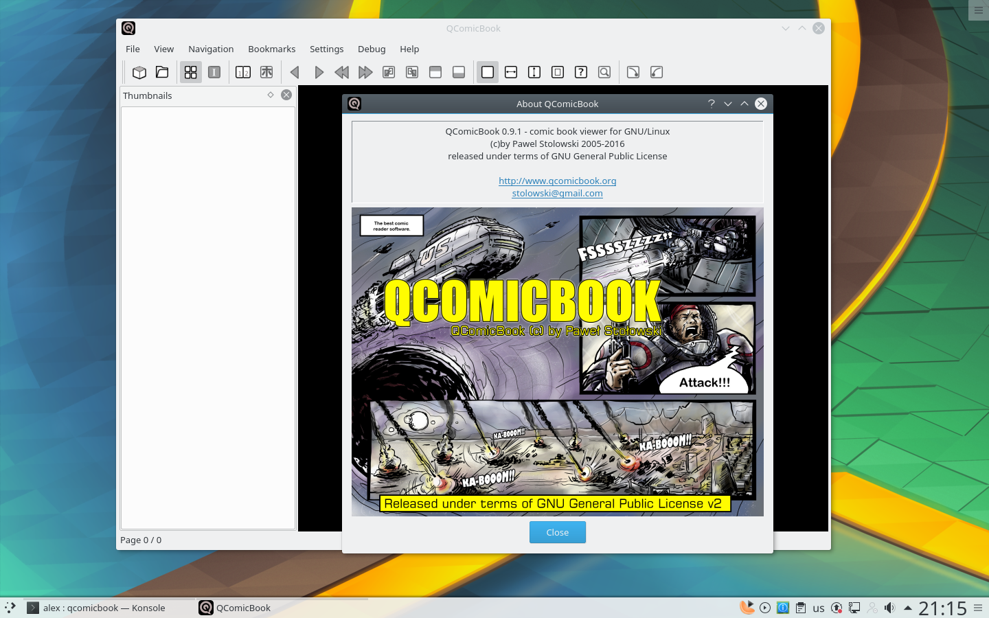 notesalexp org | Details of package qcomicbook in Debian Stretch